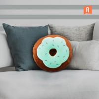 ataru 38x38x10 cm bantal sofa donut