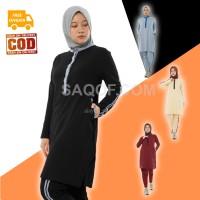 Baju Pakaian Setelan Stelan Olahraga Senam Wanita Muslimah Muslim ZAHR