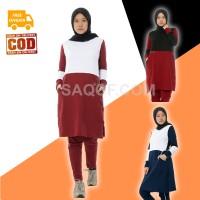 Baju Pakaian Setelan Stelan Olahraga Senam Wanita Muslimah Muslim AZUM