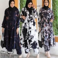 baju setelan wanita alila jumbo muslim modern unik