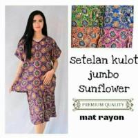 NEW Setelan kulot jumbo sunflower grosir baju murah tidur motif batik