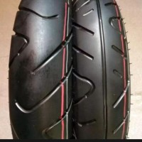 Ban Motor Untuk Scoopy Ring 12 Sepasang - Black Klikbelikaka