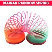 Mainan Anak Magic Spring Rainbow Spiral Per Pegas Pelangi Multicolour