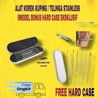 ALAT PEMBERSIH KUPING / PENGOREK TELINGA STAINLESS STEEL FREE CASE