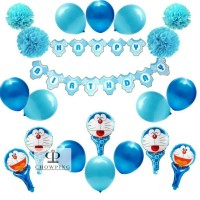 Paket Dekorasi Balon Ulang Tahun / Happy Birthday Tema Doraemon 02