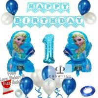 Paket Dekorasi Balon Ulang Tahun / Happy Birthday Tema Frozen 01