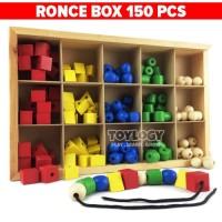 Mainan Edukasi Anak Ronce Box Balok Kayu Ronche Meronce Bentuk 150