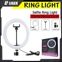 LIGER Ring Light LED Selfie Live Streaming Tik Tok with Phone Holder