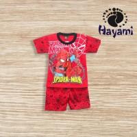 Setelan Anak Laki-Laki 2-9 Thn Spiderman Sarang Baju Anak Laki