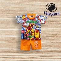Setelan Anak Laki-Laki 2-7 Thn Ironman Be A Hero Baju Anak Laki