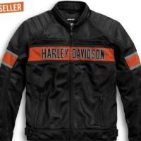 jaket kulit pria harley davidson / jaket kulit domba garut asli - Hitam, L