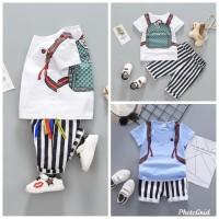 baju set setelan kaos anak laki-laki/bayi/balita premium bagus murah
