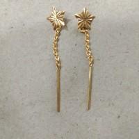 anting rante bintang 1/2 gram emas muda