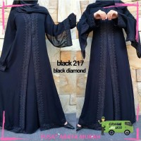 ALMA Exclusive Abaya Dubai black diamond