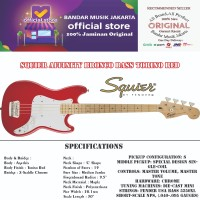 Squier Affinity Bronco Bass Torino Red,BMJ
