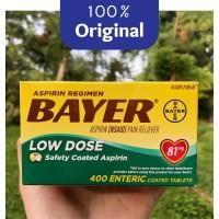 Bayer Aspirin Low Dose 400 Tablet @81 mg - Pain Reliever - Original