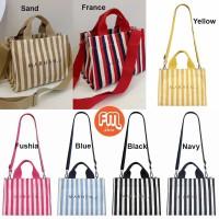 Tas Korea Marhen J Rico mini Striped Hand Bag Sling Bag