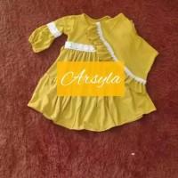 Gamis Bayi ARSYLA Kids Baju Muslim Bayi Perempuan Usia 0-1 tahun - S NAVY