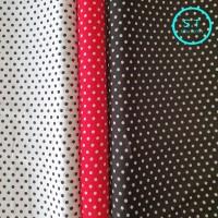 kain chiffon/sifon fine motif polkadot diameter 7 mm lebar 1.15 m