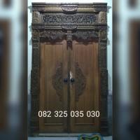 Gebyok Jawa Ukiran Kuno Klasik, Pintu Genyok Kayu Jati Ukir Jepara