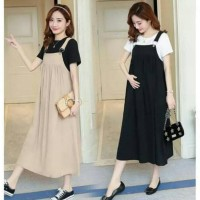 Promo Overall ibu hamil Bumil RO/Pakaian wanita baju dress overall ibu
