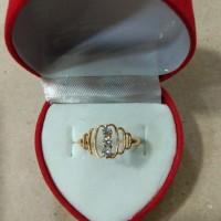 cincin mata putih 3 satu gram emas muda