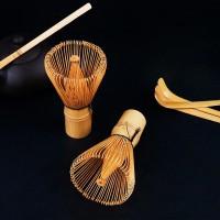 Bo Zhu Kuas Pengaduk Matcha Green Tea Bamboo Whisk Brush - CJ110 -