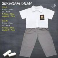 Baju Seragam Anak SD SMP SMA Bayi Lucu Tangan Pendek Dilan Milea Kado