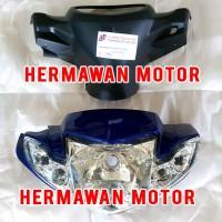 Batok depan belakang dan lampu depan Yamaha vega R new biru satu set