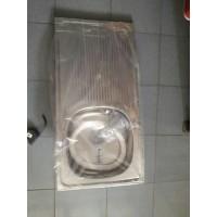 Bak cuci piring lubang 1 dan meja. ROYAL. stainles aluminium