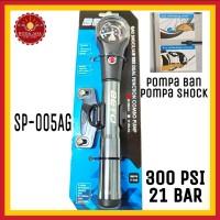 BETO SP-005AG Pompa Mini Combo Pompa Ban Sepeda dan Pompa Shock