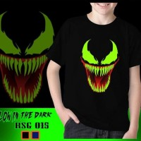 Dijual Baju Kaos Anak Cowok Venom Glow In The Dark Superhero Karakter