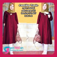 Pakaian Gamis Baju Atasan Muslim GEN CANTIKA TUNIC ( XL, 3 Warna )