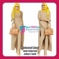Pakaian Gamis Maxi Jumbo MAHARANI MAXI (L,XL,XXL, 6 Warna) Baju Atasan