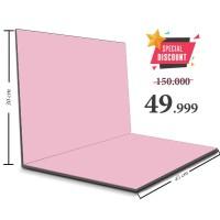 Alas Foto Lipat MDF Hijau 30x45 Background Foto Produk Warna Polos - Baby Pink