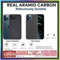 Case iPhone 12 Pro Max 12 Pro Mini REAL ARAMID CARBON Casing Hard Soft - iPhone 12ProMax, Camera Protect