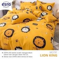 Bedcover&Sprei Katun ESRA Motif LION KING Ukuran 140x200-200x200cm