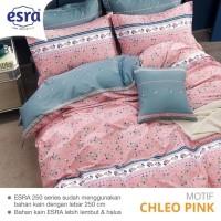 Bedcover&Sprei Katun ESRA Motif CHLEO PINK Ukuran 140x200-200x200cm