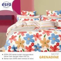 Bedcover&Sprei Katun ESRA Motif GRENADINE Ukuran 140x200-200x200cm