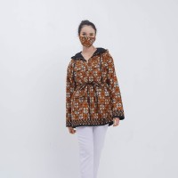 Asoka Jacket T0676 Baju atasan jacket batik wanita modern - All Size