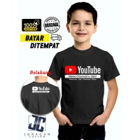 Kaos Baju Youtube Anak Gratis tambah nama Channel / Baju Youtube anak