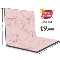 Alas Foto Lipat MDF Hijau 30x45 Background Foto Produk Pink Marble