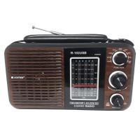Radio Asatron R-102 USB AM FM Portable Radio Model Klasik Motif Kayu
