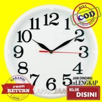 Jam Dinding Esa 102 Bulat Polos Minimalis Diameter 26 cm Best Seller