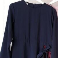 SURIE DRESS PLISKET - Navy