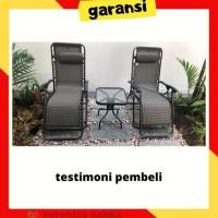 Kursi Bangku Malas Lipat Santai Reclining + Zero Gravity Chair