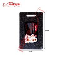 Talenan Hitam Anti Slip Chopping Board + MAKAPAL Bahan PP Food Grade - Small