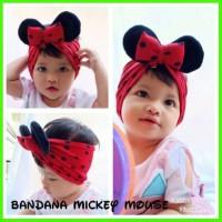 Bandana Bayi Mickey Mouse Anak Balita Kids Baby Bando Headband