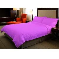 Rv407 Ellenov Sprei With Bed Cover Katun Prada Polos Warna Ungu Muda P