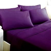 Cc594 Ellenov Sprei With Bed Cover Katun Prada Polos Warna Ungu Polos